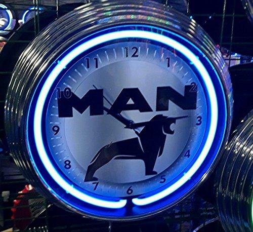 Neon orologio Man camion, Truck, garage Sign Orologio da parete USA Cools Style-Neon colore blu