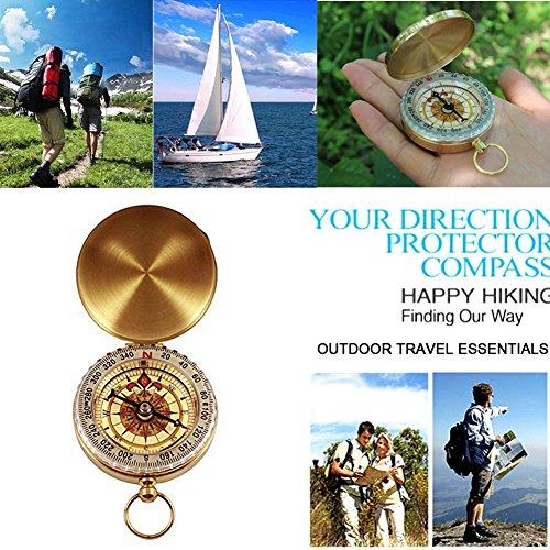 Outdoor Survival Kit 11 in 1, Emergency Survival Gear Tool mit Messer, Kompass, Notfall Decke, Feuer Starter, Taschenlampe, Whistle, Tactical Pen etc für Camping, Wandern, Klettern, Ausflüge - 4