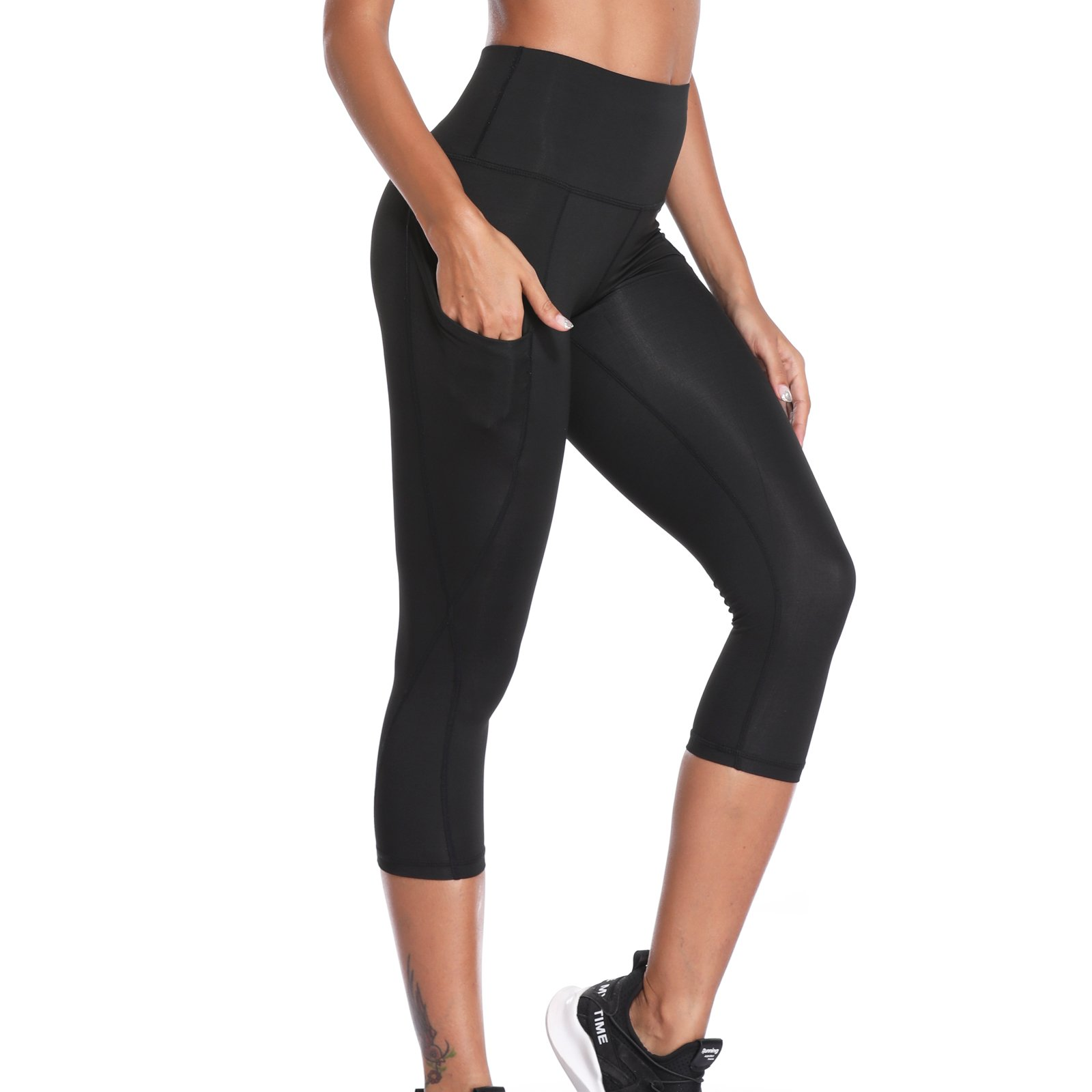 amazon a few days away best place for Joyshaper Gym Leggings with Pockets Women 3/4 Length Cropped ...