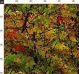 Bäume, Blätter, Natur, Tarnfarben, Herbst Stoffe -