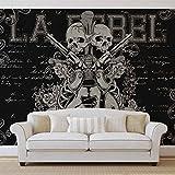 Rock Gitarre Totenkopf Pistolen - Forwall - Fototapete - Tapete - Fotomural - Mural Wandbild - (841WM) - L - 152.5cm x 104cm - VLIES (EasyInstall) - 1 Piece