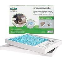 PetSafe, Litière pour chat en cristal de rechange, bac à litière automatique autonettoyant ScoopFree pour chat, recharges pour bac, sans poussière, non agglomérant, contrôle des odeurs (paquet de 1)
