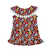 QUINTRA Mädchen Cartoon Skull Print Kleid Kleinkind Infant Baby Halloween Kostüm Outfits