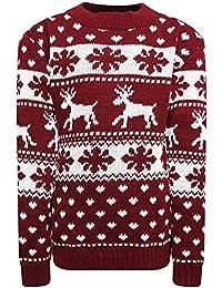 Womens Knitted Xmas Christmas Rudolf Reindeer Snowflake Festive Deer Bambi Jumper TOP