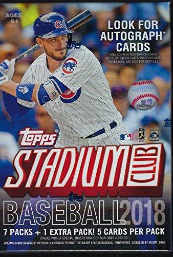 2018 Topps STADIUM CLUB Baseball-Serie ungeöffnete Blaster-Box mit Chance für Chrom-Parallels und Autogrammkarten und Shohei Otani Rookie-Karten Plus
