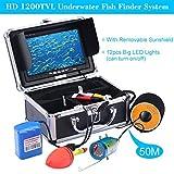 KKMOON Unterwasser Fisch Finder 50M  HD 1200TVL Wasserdicht Kamera für Ice/Meer/Fluss Angeln mit 7in LCD Monitor