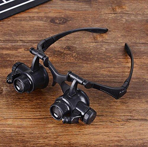 Lupenbrille Tragen Brillengläser Lupenbrillen Lupe LED-Lampen Beobachten Reparatur Lesen Lupe