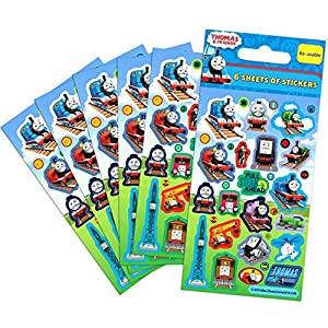 Thomas The Tank Engine Party Bag Stickers, Pack of 6 Sheets