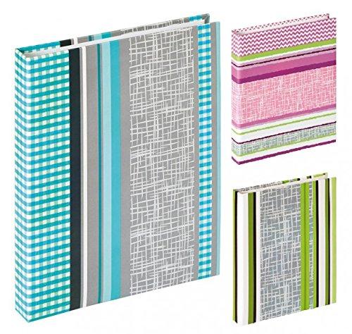 Walther Flipalbum SUNDRY - für 60 Fotos 13x18 cm - Fotoalbum mit Einstecktaschen - Rosa, Grün oder Blau, Farbe:Blau