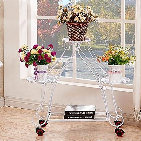 Im europäischen Stil Iron Art Vier-stöckige Blumen-Rack, vier Farben erhältlich