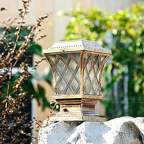 zyyd/casa solare luci/LED recinzione giardino esterno/giardino luce/lampada solare pilastro bronze - Bronzo Giardino Recinzione