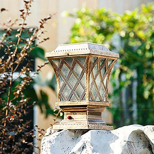 WHH/casa solare luci/LED recinzione giardino esterno/giardino luce/lampada solare pilastro bronze - Bronzo Giardino Recinzione