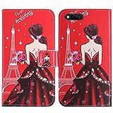 TienJueShi Traumfrau Flip Book-Style Brief Leder Tasche Schutz Hulle Handy Case Abdeckung Fall Wallet Cover Etui Skin Fur RAZER PHONE RZ35-0215 5.7 inch