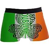ZZKKO Boxer Boxer da uomo con bandiera irlandese Shamrock traspirante elasticizzato con sacchetto S-XL