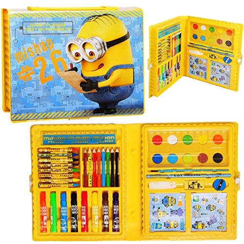 52 tlg. Set __ XL Stifte-Koffer - ' Minions - ich einfach unverbesserlich ' - Malkoffer mit Stiften...