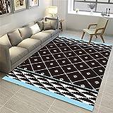 CHAI 3D Printing und Färben Wohnzimmer Dekoration Teppich Bodenmatte Nordic Minimalistischen Rechteckigen Teppich Schlafzimmer Anti-Slip Teppich Kinder Teppich Teppich Teppiche (Größe : 160x230cm)
