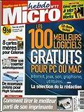 Micro hebdo - n°77 - 07/10/1999 - Les 100 meilleurs logiciels gratuits pour Pc ou Mac