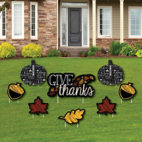 Geben Dank - Yard Sign & Outdoor Rasen Dekorationen, Thanksgiving Yard Zeichen - Set von 8 ()