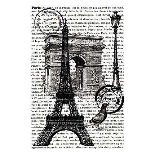 "Preisvergleich Produktbild Artemio Cling Stamps 3.93""X5.7""-Paris W/Text In Background"