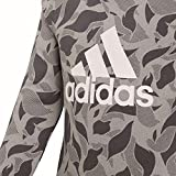 ADIDAS Mädchen Crew Langarm Sweatshirt, Heather/Grey Five/White, 164