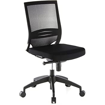 Hjh OFFICE 657210 Chaise De Bureau PORTO ECO Noir Siege Pour Un