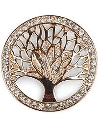 styleBREAKER Colgante de Adorno magnético del árbol de la Vida para chales, Pañuelos o Ponchos con Piedras de Estrás, Broche, Señora 05050029