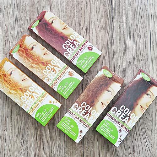 SANTE Naturkosmetik Color Cream Pflanzenfarbe Cocoa Brown, Intensiver Braunton, Gebrauchsfertige Cremeformulierung, 150ml