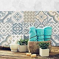 15 (Piezas) Adhesivo para Azulejos 20x20 cm - PS00086 - Agadir - Adhesivo Decorativo para Azulejos para baño y Cocina - Stickers Azulejos - Collage de Azulejos
