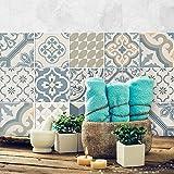 24 (Piezas) Adhesivo para Azulejos 20x20 cm - PS00086 - Agadir - Adhesivo Decorativo para Azulejos para baño y Cocina - Stickers Azulejos - Collage de Azulejos