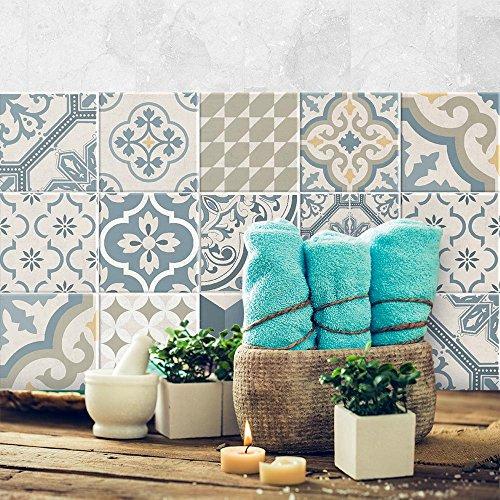 24 (Piezas) Adhesivo para Azulejos 20x20 cm - PS00086 - Agadir -...