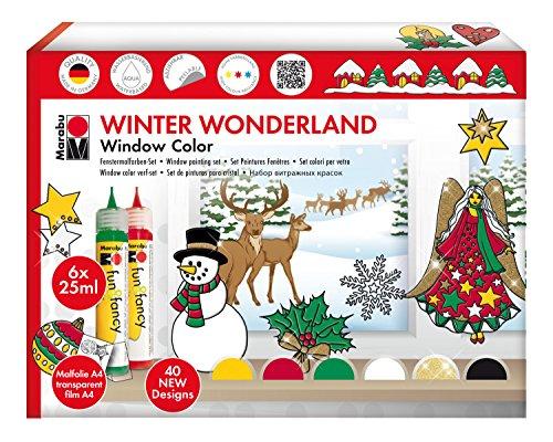 fenstermalfarben Marabu 040600119 - Window Color Set 25 ml, Winter Wonderland