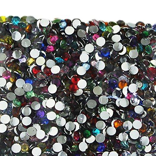 Vente En Gros 2000pcs Cristal Rhinestones Flatback Acrylique Perles Nail Art Mixte