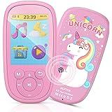 MP3 Bambini, AGPTEK Lettore MP3 MP4 con Grande schermo da 2,4 Pollichi 8GB, MP3 Player Portatile con Altoparlanti, FM, Regist