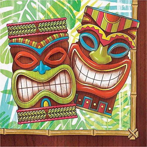 (Neu 2018: 16 Servietten * TIKI TIME * zur Hawaii- & Südsee-Mottoparty//Maori Party Geburtstag Kindergeburtstag Papierservietten Napkins)