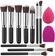 Umi. Makeup Brush Set Premium Synthetic Kabuki Foundation Face Powder Blush Eyeshadow Brushes Makeup Brush Kit with Blender