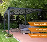 Aluminium Pavillon Überdachung Gazebo Milano 300 308x308 cm // Sommer-Pavillon und Garrtenpavillon mit 6mm Doppelstegplatten