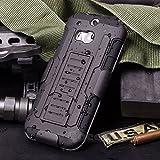 Cocomii Robot Armor HTC One M8/M8s Hülle [Strapazierfähig] Erstklassig Gürtelclip Ständer Stoßfest Gehäuse [Militärisch Verteidiger] Ganzkörper Case Schutzhülle for HTC One M8 (R.Black)