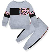 ZOEREA Bébé Fille Ensemble de Vêtements Mode Manches Longues Lettre Imprimer T-Shirt Tops + Pantalon à Léopard + Bandeau…