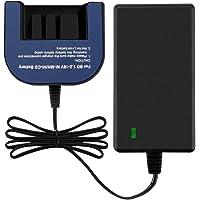 Exmate Chargeur pour Batteries Ni-Md Black-Decker Ni-Cd, Chargeur Multivolt 1.2V-18V, Convient aux Batteries Black & Decker Slide Style 7.2V 9.6V 12V 14.4V 18V (pas pour les batteries Li-ion)