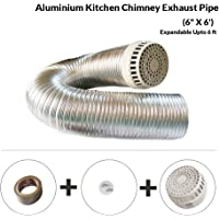 Aluminium 6 inch Chimney Exhaust Pipe, Expandable Upto 6 ft