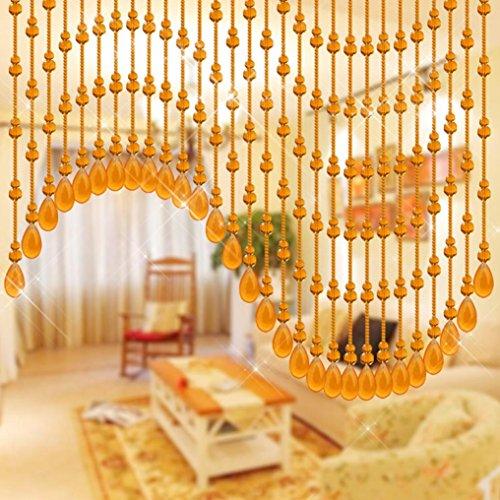 hunpta cristal gourd-shaped tira de cuentas borla de cortina Panel de
