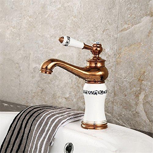 ETERNAL QUALITY Bad Waschbecken Wasserhahn Küche Waschbecken Wasserhahn Kupfer Badewanne Heiß Und Kalt Vintage Einlochkeramik Waschtischmischer BEG719 (Vintage-kupfer-badewanne)