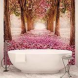 Blumen Kirschblüte Wald Natur - Forwall - Fototapete - Tapete - Fotomural - Mural Wandbild - (851WM) - XXL - 368cm x 254cm - Papier (KEIN VLIES) - 4 Pieces