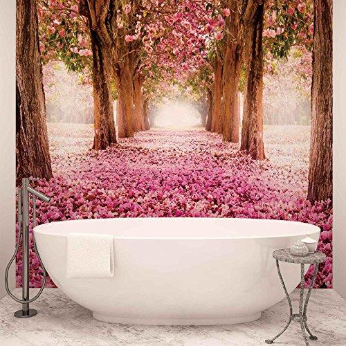 *Blumen Kirschblüte Wald Natur – Forwall – Fototapete – Tapete – Fotomural – Mural Wandbild – (851WM) – XXL – 368cm x 254cm – Papier (KEIN VLIES) – 4 Pieces*
