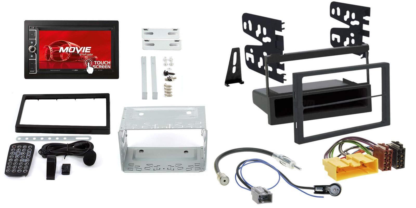 Mazda-MPV-96-99-2-DIN-Autoradio-62-Touchscreen-und-Einbauset-in-original-PlugPlay-Qualitt-mit-Antennenadapter-Radioanschlusskabel-Zubehr-und-Radioblende-Einbaurahmen-schwarz