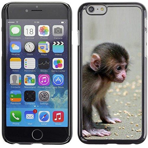 Graphic4You Lustig Niedlich Affe Tier Design Harte Hülle Case Tasche Schutzhülle für Apple iPhone 6 Plus / 6S Plus Design #3