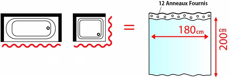 cflagrant rideau de douche en tissu lavable en machine nature zen 180 x 200 cm inspid co. Black Bedroom Furniture Sets. Home Design Ideas