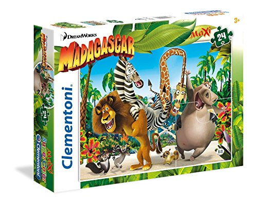 Clementoni 24043 - Puzzle Maxi Madagascar, 24 Pezzi