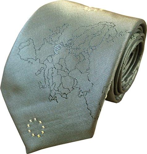Hommes 100% Soie Union Européenne EU Cravate Or