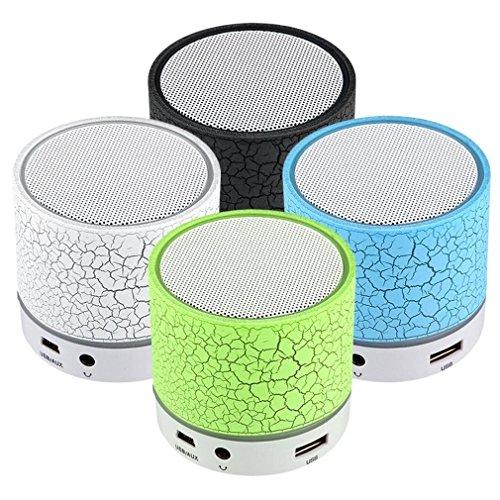 GAOWE Intelligenter Bunter LED Heller Sprung-Muster-Mini Drahtloser Bluetooth Lautsprecher Tragbarer Bluetooth Stereolautsprecher-Musik mit Geschenk Usbs/TF/FM/Aux,Green